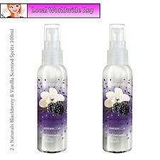 2 x Avon Naturals Blackberry & Vanilla Scented Spritz // Room Mist Spray 100ml