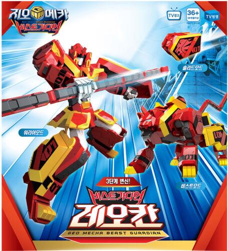 Geo Mecha Beast Guardian 01 LEO KHAN Red Lion Transformer Robot Young Toys 2016