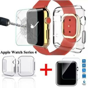 2-IN-1-For-Apple-Watch-Series-4-Tempered-Glass-Screen-Protector-Soft-TPU-Case