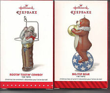 Hallmark Ornament  2015 2014 RootinTootin Cowboy Big Top Bear Tin Toys Series