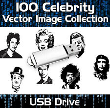 100 Celebrity Vector Image Collection Eps Clipart Vinyl Plotter Usb