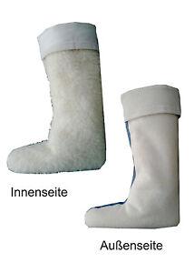 weltweit verkauft 100% Qualität suche nach dem besten Details zu Thermo Gummistiefel Einziehsocken Stiefelsocken 100% Lammfell  Größe 35-48