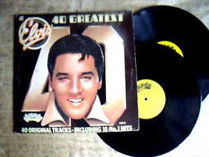 Elvis-Presley-40-Greatest-Hits-Label-Arcade-ADEP-doppio-Lp-33