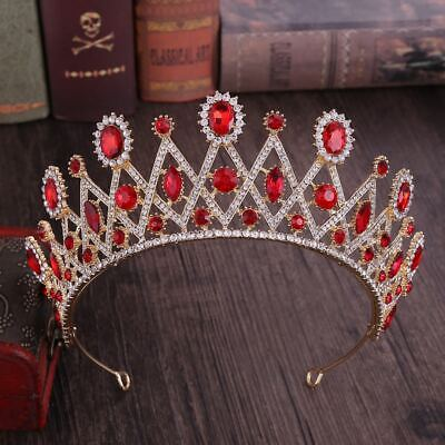 Six Color Bridal Rhinestone Marquise Hair Tiara Veil Headband Prom Wedding Crown