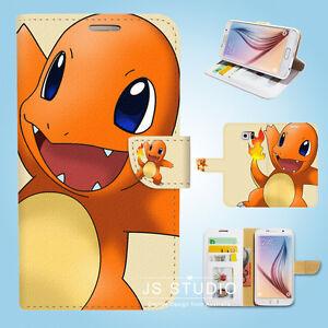 Samsung-Galaxy-S3-4-5-6-7-8-Edge-Plus-Note-Flip-Wallet-Case-Cover-Pokemon-S077