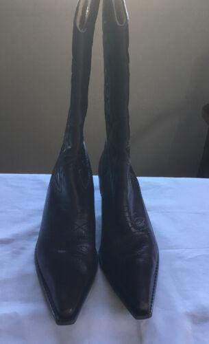 pelle Stivali da marrone Uk 6; del di da M altezza Noi taglia 5; cowboy 36 polpaccio s in donna 3 Eu qtC1trw