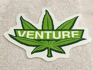 Venture-Skateboards-Sticker-marijuana-Leaf-Very-Cool-Colors-5-034-x-4-1-4-034