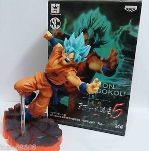 #JH7~ Banpresto DragonBall Z DBZ SCultures Son Goku PVC Figure new