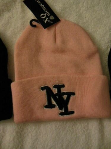 Warm Head Wear NY Pink Beanie One Size Fits All New York Warmth Winter Girl New