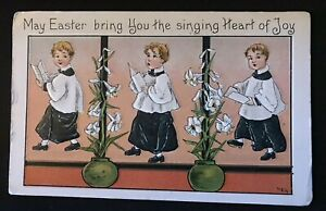 HBG-HB-Griggs-Easter-Postcard-Choirboys-with-Lily-Flowers-p542