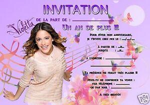 Biglietti Auguri Compleanno Di Violetta.5 O 12 Biglietti Invito Compleanno Violetta Ref 301 Ebay