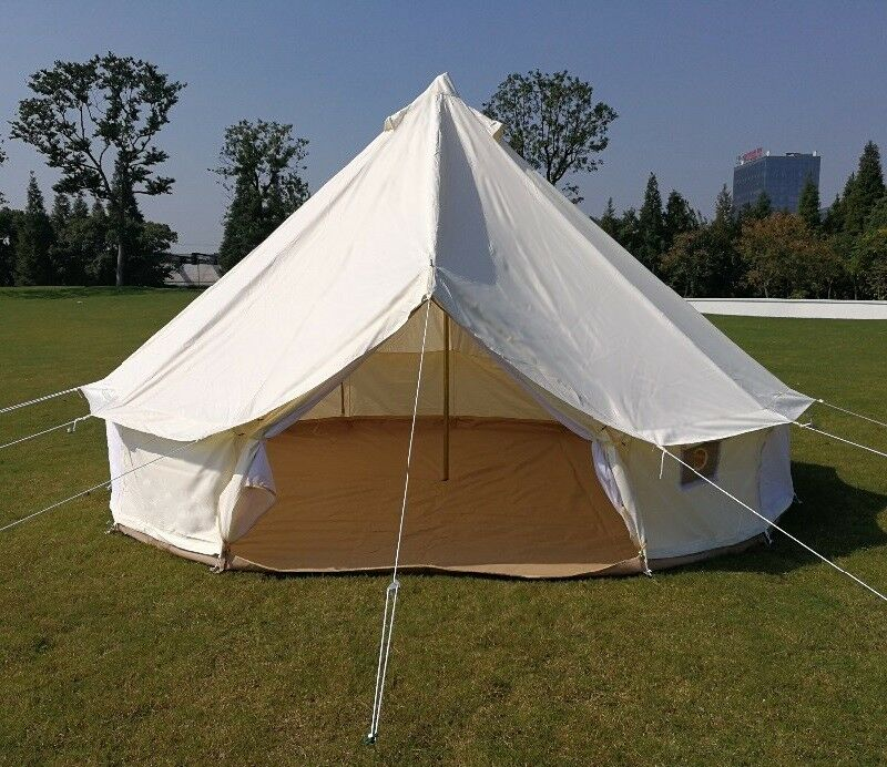 US Warehouse Available Waterproof 900D Oxford Bell Tent with Zipped Ground Sheet