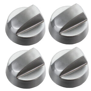 KENWOOD Chrome Oven Knob Silver Gas Hob Cooker Universal Switch Knobs
