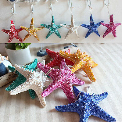 1x Colorful Starfish Ocean Beach Resin Nautical Theme Wall Hanging Wedding Decor