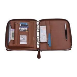 hot sale online e2441 4a603 Details about A5 Conference Folder Zipped Folio Case Pu Leather Business  Organiser Holder X2U2