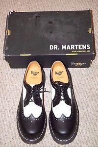 dr doc dr martens air wair black white wingtip oxford. Black Bedroom Furniture Sets. Home Design Ideas
