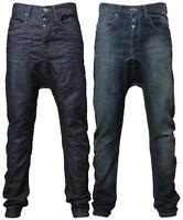 Mens EMP Rome drop crotch carrot/slim fit denim jeans