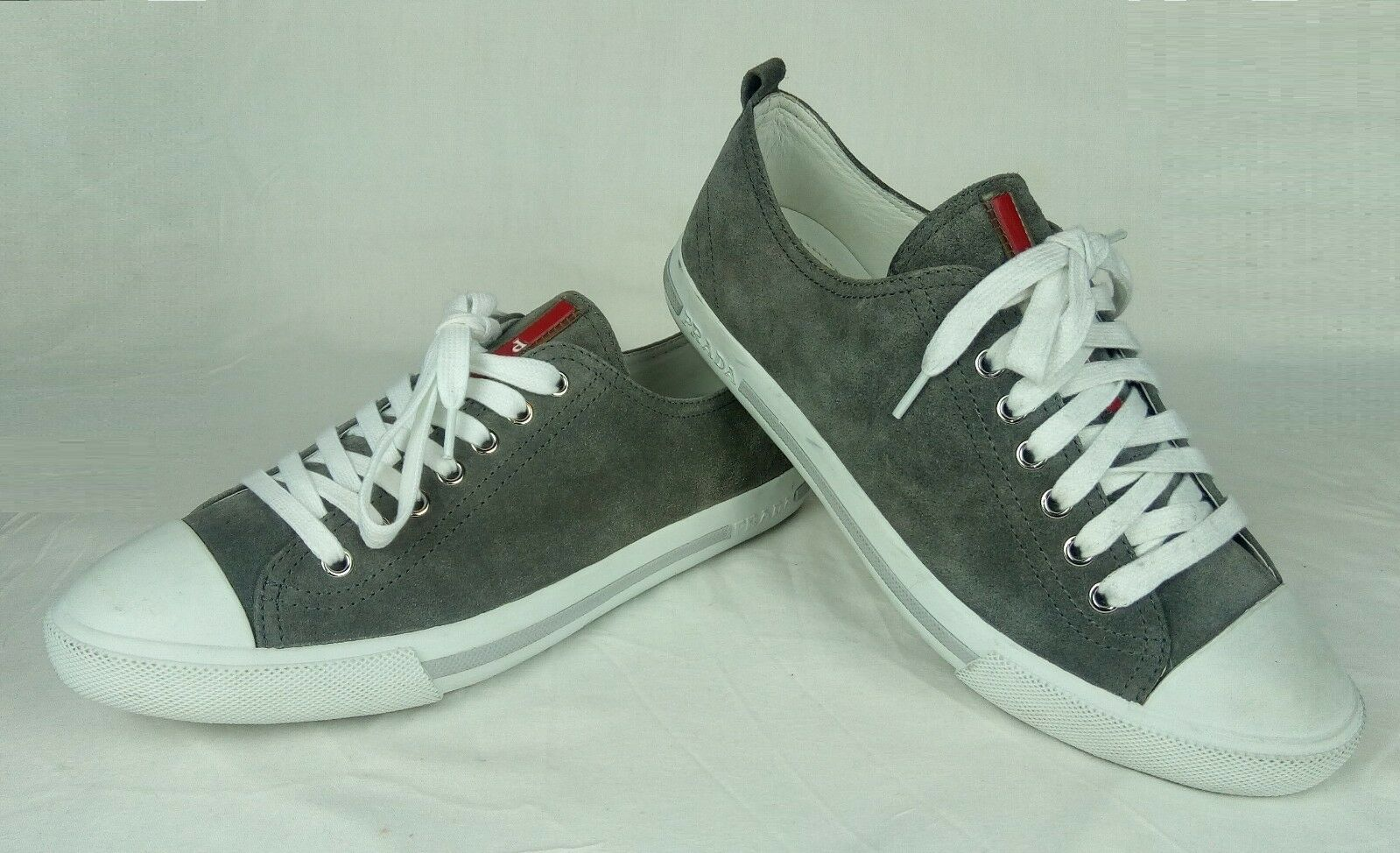 100% Authentic PRADA Suede Lace-up Schuhes Sneakers MINT 6 (Fit 7.5) /40.5 MINT Sneakers febe71