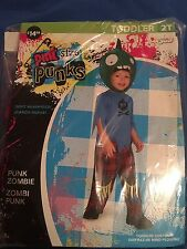 Halloween Costume Boys Toddlers Pint Size Punk Punk Zombie 2T  sc 1 st  eBay : bam bam toddler costume  - Germanpascual.Com