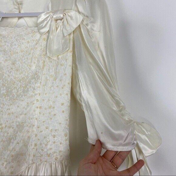 GUNNE SAX Jessica McClintock Size M Vintage White… - image 6