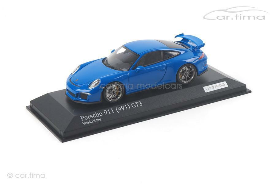 Esperando por ti Porsche 911 (991) gt3-Voodoo gt3-Voodoo gt3-Voodoo azul - 1 of 200-Minichamps-Coche. tima Exclusive  autorización oficial
