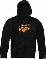 Fox Racing Fade Head Zip Up Hoody Black, Medium