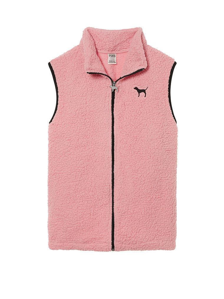 Victoria's Secret Pink Sherpa Vest Smokey pink Size Small