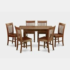7 piece small kitchen table set   table with leaf and 6 dining room chairs new farmhouse dining room sets for 6 of nantucket 7 piece kitchen      rh   ebay com
