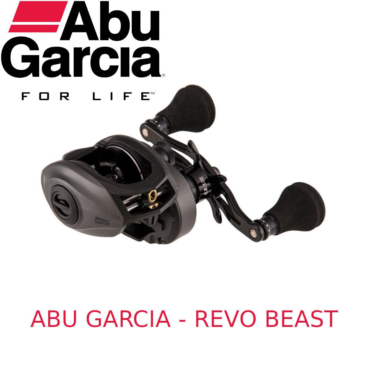 Mulinello da pesca Abu Garcia Revo Beast baitcasting casting luccio e negro bass