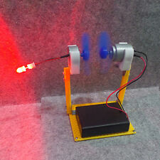 Small Simulation DC Wind Turbine Power Generator LED System Windmill Blades Hot