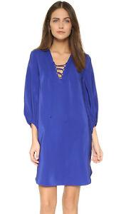 Amanda-Uprichard-Nora-Blue-Silk-Mini-Dress-Size-Small-New