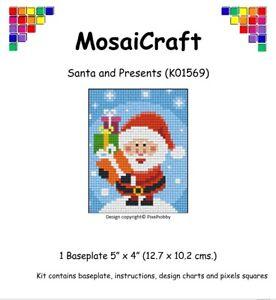 MosaiCraft-Pixel-Craft-Mosaic-Art-Kit-039-Santa-and-Presents-039-Pixelhobby