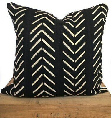Mud Cloth Pillow Collection #2 Black and White Mud Cloth Pillow Covers with Arrows