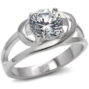 066-3-25C-SOLITAIRE-OPEN-SIMULATED-DIAMOND-RING-STAINLESS-STEEL-NO-TARNISH
