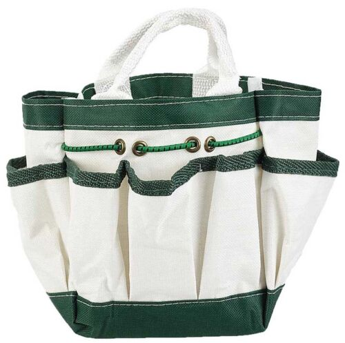 Canvas Garden Tote with 7 Pockets - White - 9 X 6