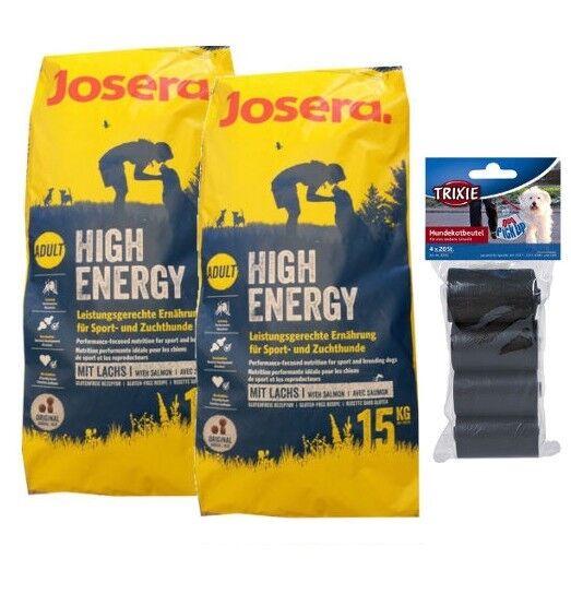 2x15kg josera High Energy cibo per cani  80 PZ. kotbeutel