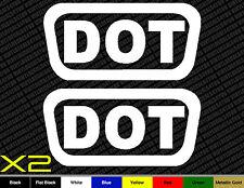 2x DOT Stickers Helmet Vinyl Decals Pack D.O.T. Motorcycle Bike Replace