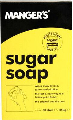 Manger's Sugar Soap Powder. Cleans & Prepares Surfaces 450g Makes 10 Litres