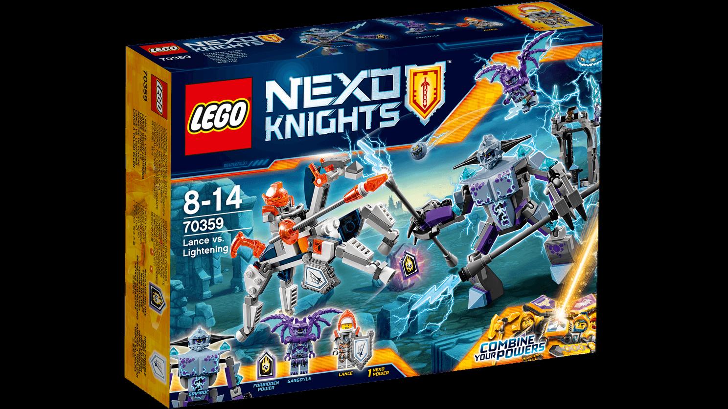 LEGO ® Nexo Knights ™ 70359 lance contre Lightning nouveau neuf dans sa boîte _ NEW En parfait état, dans sa boîte scellée Boîte d'origine jamais ouverte