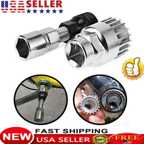 New Bike Crank Extractor Puller Bottom Bracket Remover Removal Tool Set USA