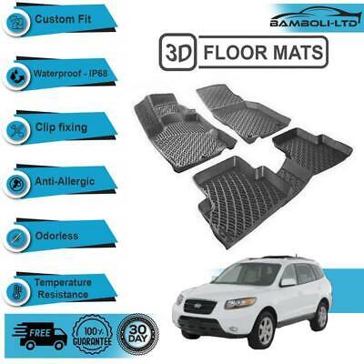 Custom Fit Heavy Duty Rubber All Weather Floor Mats 2006-2012 Toyota RAV4 Black