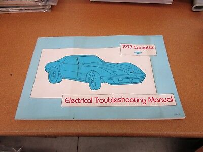 1977 77 Chevrolet Corvette WIRING DIAGRAM electrical ...