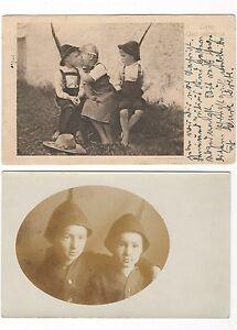 5-431-AK-KINDER-HUT-FEDER-GEHEIMNIS-ZOPFE-STEMPEL-DUSSELDORF-1918-BOMMERN-WITTEN