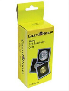 10-Guardhouse-2x2-Tetra-Snaplock-Coin-Holders-for-Penny-Cent-19mm