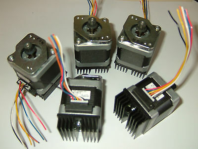 5 x NEMA 17 Stepper Motor -.Mill Robot RepRap Makerbot Prusa 3D Printer Heatsink