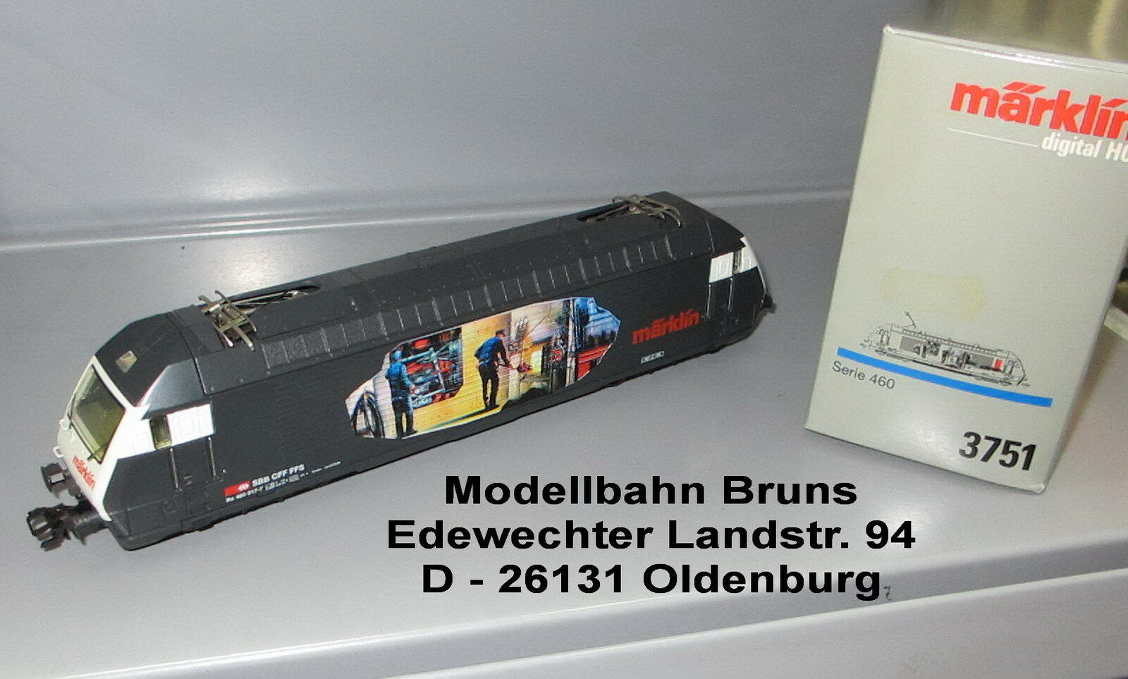 Märklin H0 3751 _ E-Lok _ Serie 460 _ Re 4 4 _  460 017-7 _ SBB _ Heizerlok  | Sale Outlet