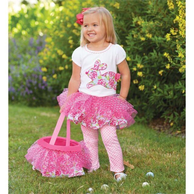 Mud Pie MEA6 Easter Baby Toddler Girl Bunny Tunic /& Legging Set 1112282