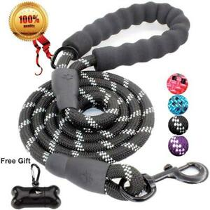 JBYAMUK-5-FT-Strong-Dog-Lead-with-Comfortable-Padded-Handle-and-5-FT-Black