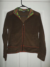 Women's Brown KAVU Terry Cloth Texture Fashion Zipper Jacket, Size XS, GUC!