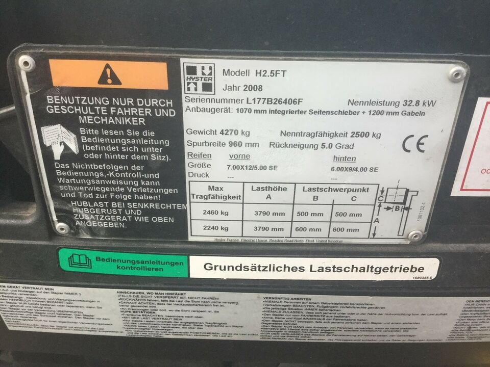 Gaffeltruck, Hyster H2.5FT